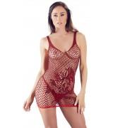 Nettingkjole med Mønster - Rød