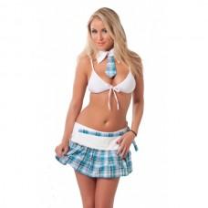 Amorable - Skolepike Uniform Blå