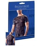 Svenjoyment-Skjorte i Wetlook og Blonder