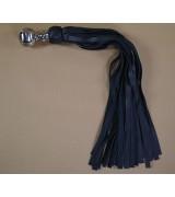 Avalon - Stor sort flogger med kulehåndtak i metall