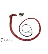 Avalon - BEHEMOTH - Bullwhip heavy handle, Sort og rød  1,5 m