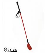 Avalon - Ridepisk med håndflipp - Rød
