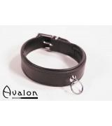 Avalon - Klassisk collar med O-ring sort