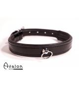 Avalon - Collar med blank overflate og O-ring - Sort