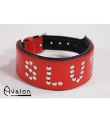 Avalon - Collar Slut - Rød