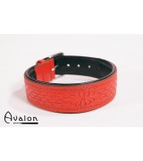 Avalon - Collar med nydelig mønster - Rød og sort
