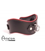 Avalon - Collar med god polstring, Sort og rød