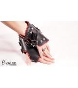 Avalon - Suspensjoncuffs med polstring sort og rød