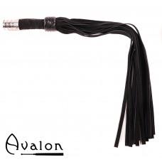 Avalon - ARRAN - Svart Lærflogger med Metall på Håndtaket