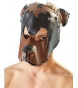 Fetish - Hundemaske Sort og brun