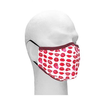 Sexy Masks - 3 lags Tøymunnbind med Frekke Lepper - 1stk