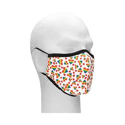 Sexy Masks - 3 lags Tøymunnbind med Pride Hjerter - 1stk