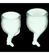 Satisfyer - Feel Secure - 2pk Menskopp Lys Grønn