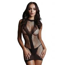Le Desir - Frekk minikjole i netting med kontrast