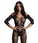 Le Desir - Sexy Catsuit med netting og blomstermønster