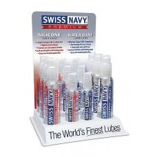 Swiss Navy - Vannbasert og silikonbasert glidemiddel display